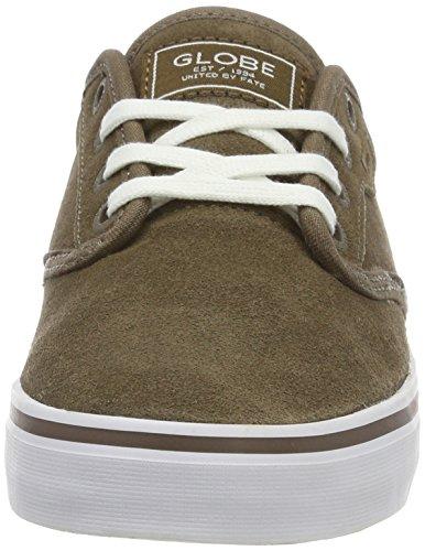 Globe  Motley, Sneakers Basses homme Vert (Marron Walnut/White)