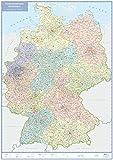Postleitzahlenkarte Deutschland: gefalzt in Kunststofftasche, 1:1 Mio. (Busche Planokarten)