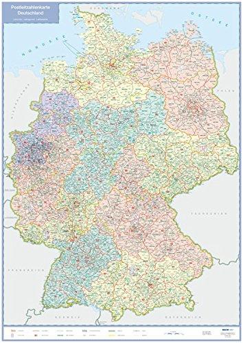Postleitzahlenkarte Deutschland: plano in Versandrolle, 1:1 Mio. (Busche Planokarten)