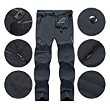 LY4U Men's Outdoor Quick Dry Lightweight Breathable Trousers Hiking Camping Trekking Mountain Running Cycling Hunting Stretch Trousers