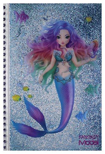 Depesche- Top Model Notebook Fantasy Sirenetta, Disponibili Due Colori: Rosa e Azzurro, 10046