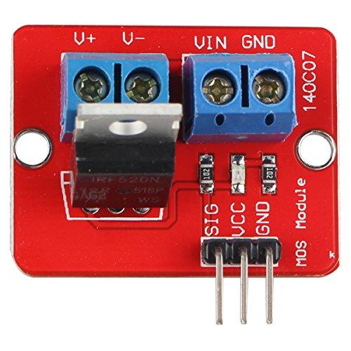 HALJIA IRF520 MOS FET MOSFET Treibermodul für Arduino Raspberry Pi ARM MCU (Mosfet-modul)