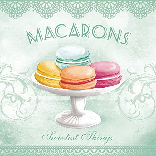 Ambiente tovaglioli pranzo/Party 33x 33cm Macarons Aqua