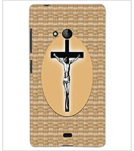 PrintDhaba Cross D-6068 Back Case Cover for MICROSOFT LUMIA 540 (Multi-Coloured)