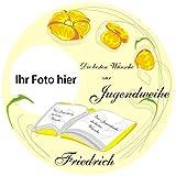 Fototorten Auflage Jugendweihe rund, schöne Tortendeko +Foto+ Name