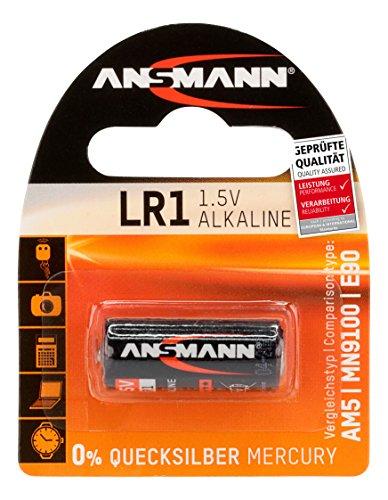ANSMANN piles alcalines LR1 (1,5 V) pour ouvre-porte de garage, alarme, déclenchement à distance pour l'appareil photo, Meters, cloche, etc.
