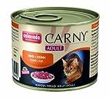 Animonda Carny Adult Rind plus Huhn 200 g - Katzenfutter, 6er Pack (6 x 200 g)