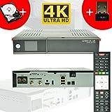 GigaBlue Ultra UHD UE 4K HYBRID LINUX Enigma2 HEVC H.265 2x DVB-S2 FBC Tuner (Twin) + DVB-C/T2 Single + 2TB 2,5 Zoll Festplatte + 150Mbit WLAN Stick NA-DIGITAL