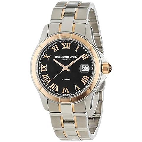 Raymond Weil Parsifal 2970-sg5–00208Acero y 18K Rose Oro Automático Reloj para hombre