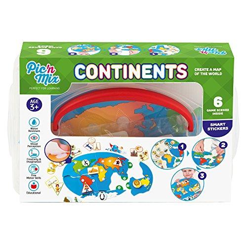 Picnmix Continentes Juguetes Educativos Para Ninos 4 Anos A 7 Anos