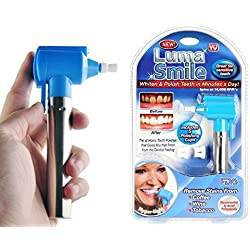 Flying Birds Tooth Polisher Whitener Stain Remover with LED Light Luma Smile Rubber Cups