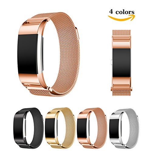 chok-idea-fitbit-charge-2-strap-band-replacementmagnet-lock-milanese-loop-stainless-steel-bracelet-s