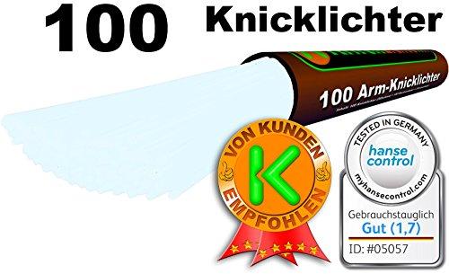 comprare on line KnickLichter - 100 Bastoncini Fluerescenti Starlight - BIANCO GHIACCIO - Kit con 202 pezzi per creare forme diverse - Alta Qualità - Ultima Generazione - Produzione Propria prezzo