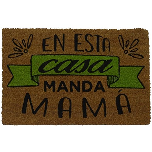 Felpudos Frikis con Diseño Manda Mama, PVC, Coco, 60 x 40 cm
