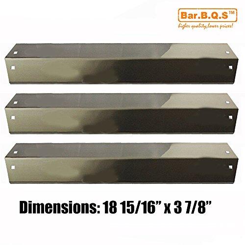 Bar.B.Q.S 95051 3pk BBQ Edelstahl Wärmeplatte, Brenner Deckel Ersatz für Chargriller 3001, 4000,5050, 5252 Gas Grill