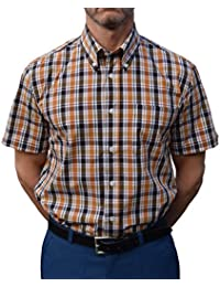 Warrior Orange & Black Check Shirt Sizes Large-4XL Available