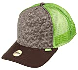DJINNS - Tweed Combo (brown) - High Fitted Trucker Cap