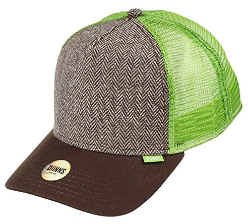 DJINNS - Tweed Combo (brown) - High Fitted Trucker Cap -