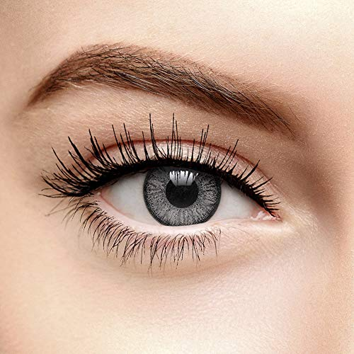 Chromaview Zwei Ton Farbige Kontaktlinsen Ohne Stärke Dunkelgrau (90 Tage)