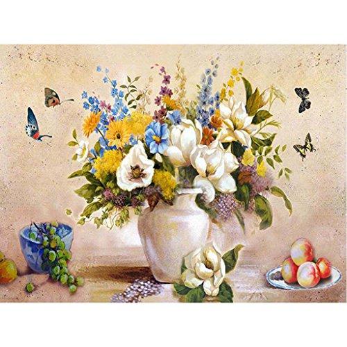 de Malen nach Zahlen Neuerscheinungen Neuheiten-Veränderter Blumen-Schmetterling 15.75*19.69