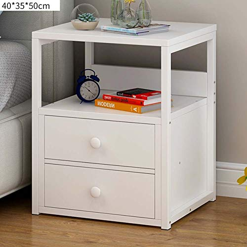 IG Haushaltsnachttische Nachttisch aus Holzwerkstoff, mit Schublade und Regalaufbewahrung, Schlafzimmerschrank Nachttisch Mini,# 2 - 2 Schubladen Naturholz-nachttisch