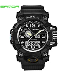 Sanda 742 Reloj 30M Impermeable del Choque Militar Reloj del Deporte del Reloj del Cuarzo del