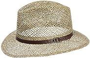 Lipodo Farmer Cappello di Paglia da Uomo - Cappello da Sole in 100% Paglia - Cappello da Spiaggia nelle Taglie