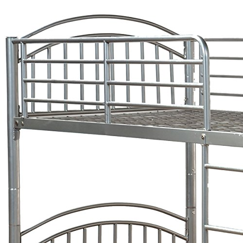 Humza Amani Lynton (Corfu) Single 3FT Metal Bunk Bed - Can split into 2 3FT Beds