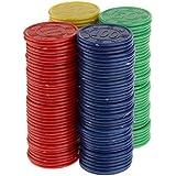160pcs Juguetes Juegos Casino Fichas Póquer Mahjong Color Rojo Amarillo Azul Verde