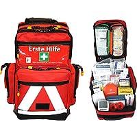 Erste Hilfe Notfallrucksack Sport, Sportvereine, Freizeit , Event & Freizeit - Nylonmaterial mit weißen Reflexstreifen preisvergleich bei billige-tabletten.eu