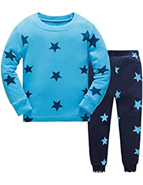 Tkiames Niños pijama de