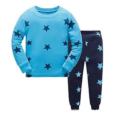 Tkiames Enfants Garçons Ensembles de pyjama Mignonne Étoiles , 3-8 Ans