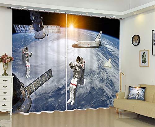 IndividualityCurtain (Anpassbare Größe) 3D Digital Stereo Persönlichkeit Kinder Wohnzimmer Schlafzimmer Balkon Erker Druck Blackout Vorhänge,160cm breit x 245cm hoch