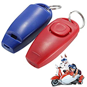 WINOMO clicker training sifflets pour chien Animaux Formation Sifflet Porte-clés(Rouge)