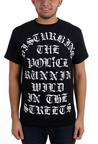 Famous Stars and Straps - Herren Disturbed T-Shirt Black