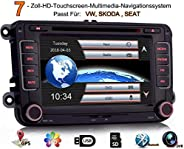 iFreGo 7 Zoll 2 Din Autoradio Für VW Golf 5/6 Tiguan EOS Caddy Polo Jetta,GPS Navigation,DVD CD Player,Windows