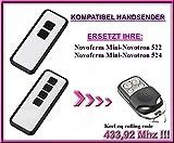 Novoferm Mini-Novotron 522, Novoferm Mini-Novotron 524 *NEW DESIGN* Kompatibel Handsender, 433.92Mhz KeeLoq rolling code keyfob