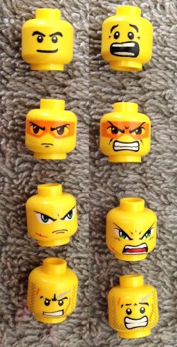 Mini figures x25 Head Pieces Lego Minifigures