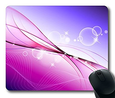 Aero Colorful Purple 6 Gaming Mouse Pad Personalized Hot Oblong Shaped Mouse Mat Design Natural Eco Rubber Durable Computer Desk Stationery Accessories Mouse Pads For Gift - Support Wired Wireless or Bluetooth Mouse