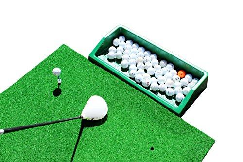 Tapis de golf d'entraînement professionnel avec rembourrage pour protéger les clubs, plateau pour...