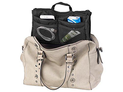 Organisateur de sac à main 26 x 16 x 8 cm à 13 poches - coloris noir