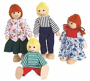 CASA DE MUÑECAS muñecas muñecas FAMILIA TABERNA 4 Muñequitas MUÑECA DE MADERA WOODY