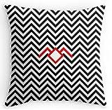 uk-jewelry Bon Marché Twin Peaks Noir Lodge Dimensions pour deux taies d'oreiller Home producte Coque 45,7x 45,7cm