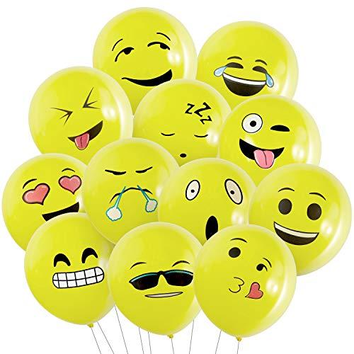 Wolintek Luftballons, Ballon mit Luftpumpe, Partyballon, für Weihnachten, Geburtstagsfeiern, Party, Hochzeitsfeiern (Gelb)