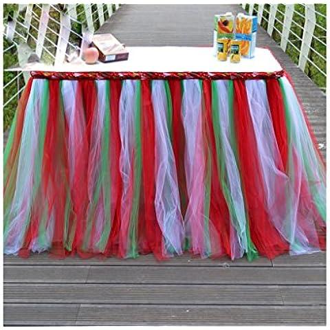 G&M Tabella di partito tabella ricevimento tavolo tovaglia dessert nuziale gonne circa 80cm * 91,5 cm - Ricevimento Di Nozze Tavolo Decorazioni
