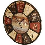 XXL Reloj de Pared 60cm Vintage Estilo Look Sun Mountain Lodge