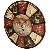 Orologio da parete grande design 'Sun Mountain Lodge' Diametro 60 cm