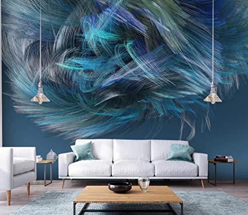 Fotomurali 3d moderni linee d'onda colorate astratte carta da parati moderno quadro murale decorazione per bambini soggiorno camera da letto,200x140cm