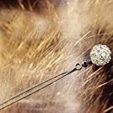 BAOZIV587 Einfache und vielseitige Halskette Englisch Alphabet Wort Liebe Halskette Pullover Kette weiblichen Schmuck kurze Kette, Silber Kugel Halskette