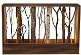 Bada Bing LED XL Naturfarbener Holz Deko Rahmen Mit Ästen Und 12 Warmweißen Lichtern 40 x 26 cm Deko 97